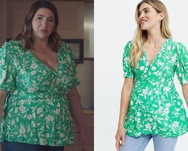 DEMAIN NOUS APPARTIENT : la blouse verte d'Audrey dans l'épisode 1009