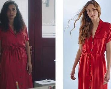DEMAIN NOUS APPARTIENT : la robe rouge d'Irène dans l'épisode 1012