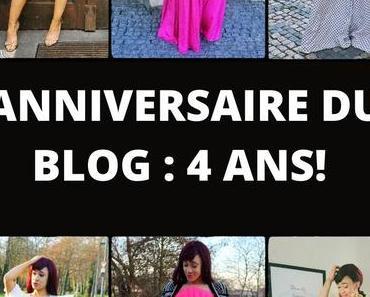 Anniversaire du blog: 4 ans déjà!