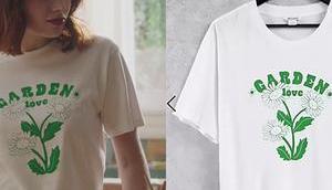 """TOUT COMMENCE t-shirt """"garden love"""" d'Ambre dans l'épisode"""