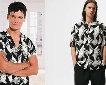 INFLUENCES : la chemise à imprimé géométrique de Romain