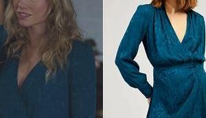 DEMAIN NOUS APPARTIENT robe bleu canard Maud dans l'épisode 1036